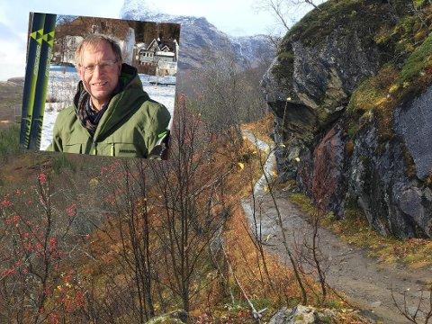 GÅR FREMOVER: Nå ligger alt til rette for at Bjørnar Mikkelborg (innfelt) og Narvik skiklubb får utvidet løypen innover Tøttadalen. De mangler bare penger.