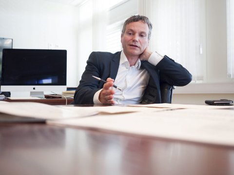 SELGER: Styreleder i Forte Narvik, Eirik Frantzen, er fornøyd med å selge sin eierandel i Norut Narvik på 66,6 prosent til SINTEF. Bildet er tatt ved en tidligere anledning.