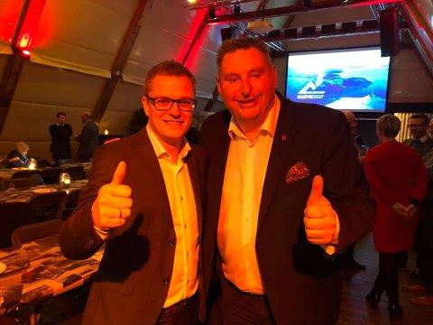 FÅR MYE Å GJØRE: Både sjefredaktør i Fremover, Christian Senning Andersen og ordfører i Narvik Rune Edvardsen, får nok å gjøre, selv etter mandagens triumf.