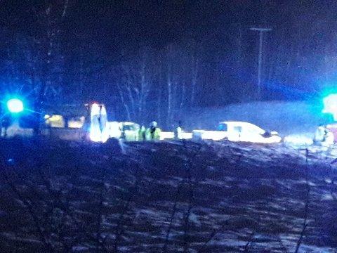 TRAFIKKULYKKE: To personer skal være involvert i en trafikkulykke ved Snubba i Bogen.