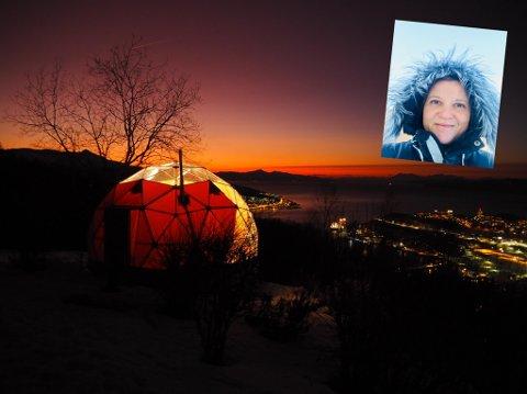 Arctic Dome er på plass og det er planer for flere. Marianne Kuraas (innfelt) har tatt steget med å slutte i jobben som eiendomsmegler etter 17 år for å satse på drømmen sin.