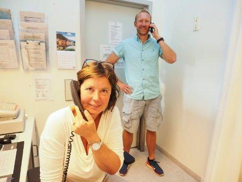 Overlege ved Narvik legevakt Sverre Håkon Evju og enhetsleder i helsetjenesten, Astrid Schøning