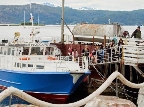 Arkivfoto av M/S Sjøsprint i Kjeldebotn.