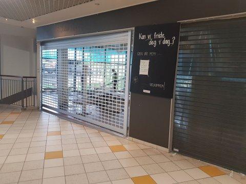 STENGT: Inntil videre er Kafé Baguetten på Narvik storsenter stengt.