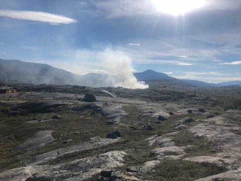 Det er mye giftig røyk på Bjørnfjell nå.
