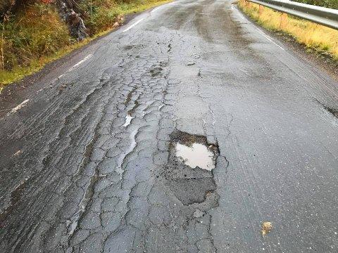 Statens vegvesen mener de vedlikeholder Skjomenveien som alle andre fylkesveier.