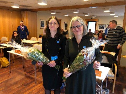 Politisk ledelse: Britt Kristoffersen (t.v.) fra Senterpartiet, og Elin Eidsvik, Arbeiderpartiet blir henholdsvis ordfører og varaordfører i den nye kommunen.