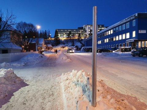 Dukket nylig opp: Disse stolpene kom nylig opp langs Alleen på Frydenlund, og skiltene er ennå ikke på plass.