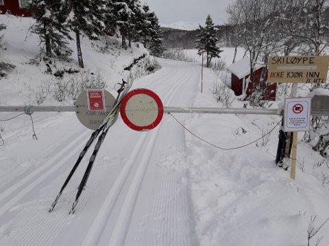 SESONGKLAR: Nå er det bare å snøre sin sekk og spenne sine ski. Fredag ble den første løypa for sesongen kjørt opp (bildet). Søndag er totalt tre løyper nypreparerte på Herjangsfjellet. Bildet er gjengitt med tillatelse.