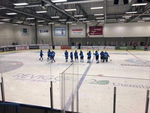GLADE: Damelaget til Narvik Ishockeyklubb kan være fornøyde med hjemmekampen mot Kiruna.