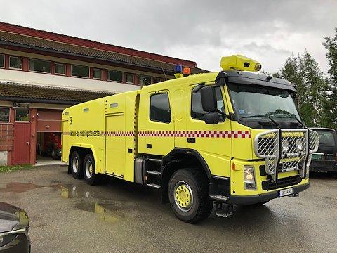 BRUKT: Brannbilen har tidligere tjenestegjort ved Stord lufthavn.