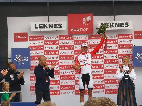SEIERHERRE: Mathieu van der Poel tok seieren på den første etappen av Arctic Race of Norway.