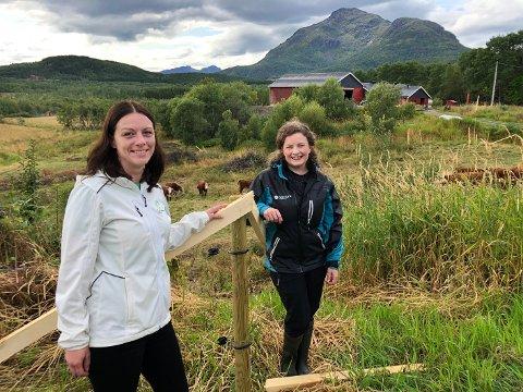 Kjempetall: Britt Kristoffersen (t.v.) og Hanne Sofie Jenssen mener svært gode meningmålinger gjør at Senterpartiet kan bli et tydelig sentrumsalternativ i norsk politikk.
