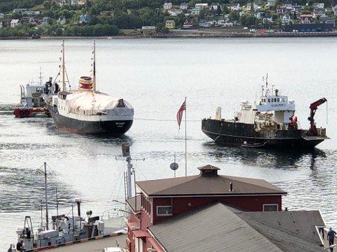 Tilbake i Narvik: Fredag 9. august ankom Skogøy igjen Narvik, etter et lengre opphold i Svolvær.