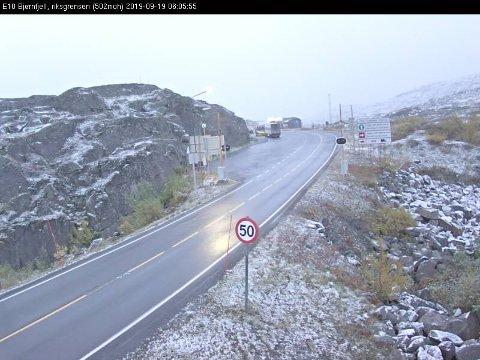Slik så det ut på Bjørnfjell torsdag morgen.