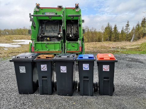 RULLES UT: Det nye systemet for avfallssortering rulles ut i løpet av våren i Narvik og i oktober i kommunene rundt. Dermed skal husstandene sortere brennbart, mat, plast, papir og glass og hermetikk i egne dunker hjemme.