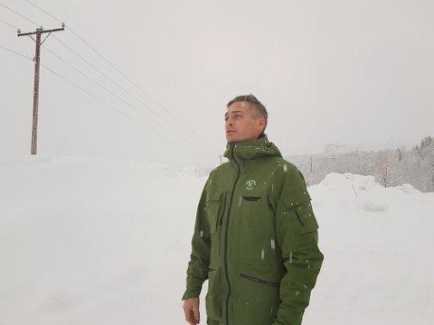 UTREDER: Bertil A. Birkeland i Midtre Hålogaland friluftsråd utreder mulighetene for en sherpatrapp i Narvik.