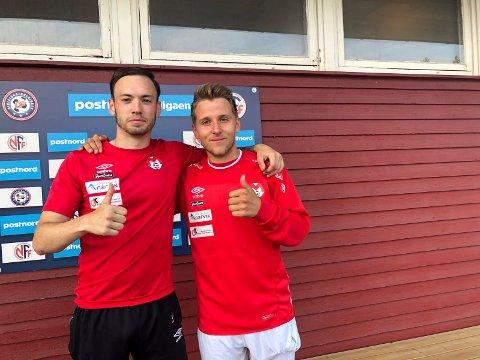 Elias Skogvoll og Mathias Dahl Abelsen.