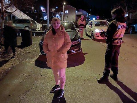 STJÅLET BIL: Serina Hamnes trodde det hadde rabla for henne da bilen plutselig var borte.