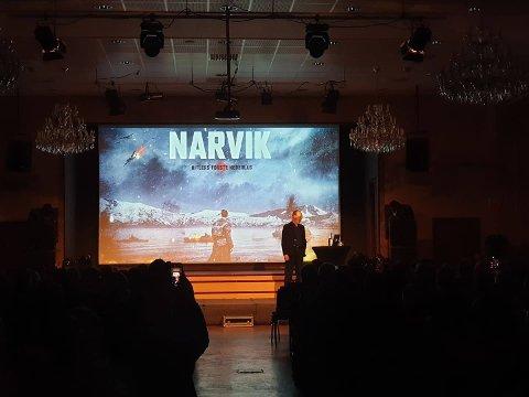 """Det blir verdenspremiere på filmen """"Narvik"""" i Narvik 12. desember i Narvik, forteller filmprodusent Aage Aaberge."""
