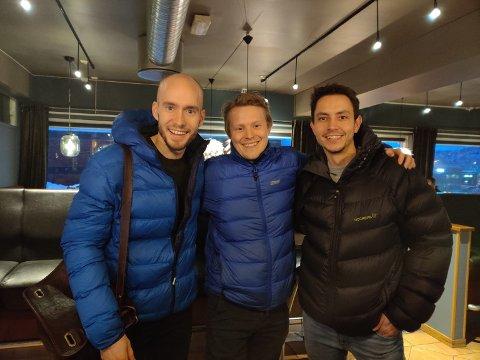 PÅ DRIV: Styreleder Sven Kolstø, daglig leder Mikkel Flom Pedersen og kompanjong Rune André Hansen i Probotic.