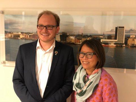 Daniel Bjarmann-Simonsen, regiondirektør NHO Nordland, Målfrid Balk, regiondirektør NHO Arktis.