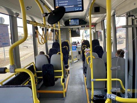 FUNNET HER: Gutten kan ha vært i flere timer i en rutebuss før han ble funnet.