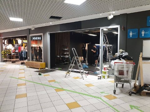 SNART KLAR: Frisørkjeden Cutters åpner salong i Narvik.