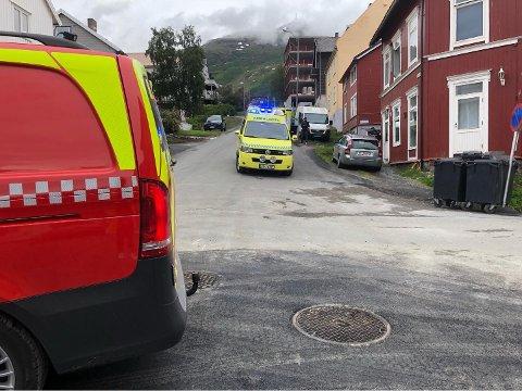 To personer ble påkjørt i Håreks gate i Narvik ved 13-tida fredag.