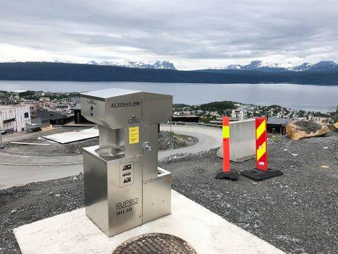UTSIKT: Dette er utsikten over byen fra der man kan parkere bobilen.