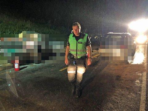 INNSATSLEDER: Stig Andersen var politiets innsatsleder på stedet.