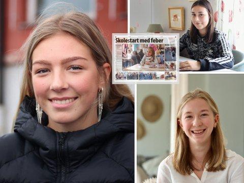 NOK EN SKOLESTART: For Anna Soleng, Josefine Østvik og Norah Vik Rondestvedt. Ti år etter deres første (innfelt).