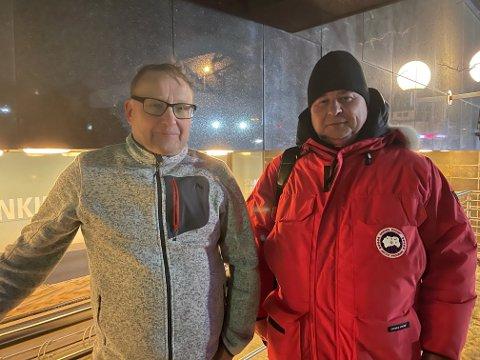 Jussi Holopainen (55) og Jukka Kristo (53) fra Rovaniemi ble evakuert fra Radisson.