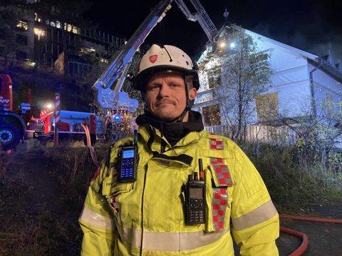 Innsatsleder Kolbjørn Ingvaldsen hos Ofoten brann