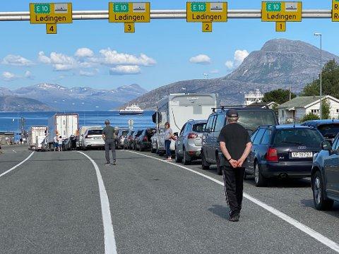Trenger alt selv: Statens vegvesen har ingen plass å avse til bruk av salgsvogn for å selge forfriskningen til turister på fergeleier.
