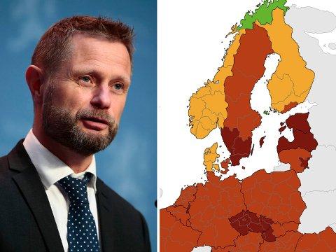 GRØNN: Troms og Finnmark har vært definert som et grønt område i lang tid.