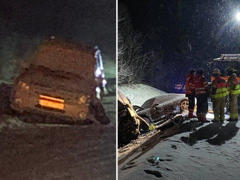 STORE SKADER: Bilen til Joakim (til venstre) ble truffet bare sekunder før dødsulykken søndag.