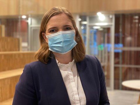 Ordfører i Bodø, Ida Pinnerød på fredagens pressekonferanse.