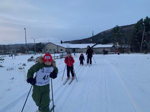FØRSTE RENN: Onsdag gikk sesongens første - og kanskje siste - onsdagsrenn i Håkvik.