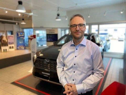 Hans Petter Heim er nytilsatt salgssjef ved Toyota i Narvik