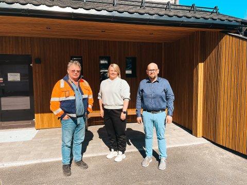 NYE ANSATTE: Per-Helge Aspenes, Silvia Hellesvik og Christian Knaak-Gibbe begynte alle i ny jobb hos HRS i begynnelsen av mai.