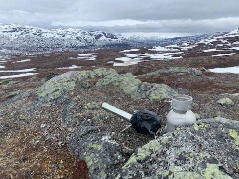 KANON: Slik så innretningen ut som politiet fant på fjellet i Dividalen.