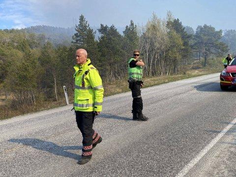 INNSATSLEDER: Edvar Dahl er innsatsleder under brannen på Øyjord.