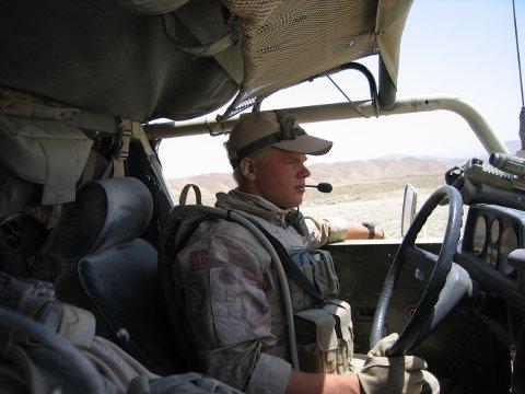 SJÅFØR: Thomas Bogholm Nystad var sjåfør i Afghanistan da han og medsoldatene hans havnet i et bakhold. For det Bogholm Nystad gjorde den novemberdagen i 2008 tildeles han Forsvarets innsatsmedalje med rosett.