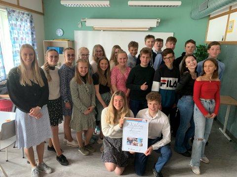 VANT: Klasse 9B ved Ankenes ungdomsskole stakk av med prisen som Årets forskerteam på Newtonrommet i Narvik i 2021.