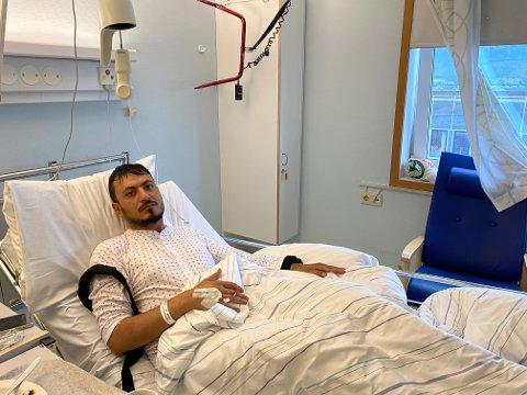 ANGREPET: Abdul Barho (28) må tilbringe en del dager på sykehus i etterkant av angrepet.