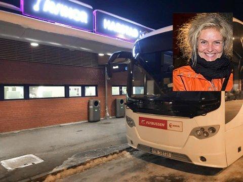 Vera Østensen mener servicen til flybussen som kjøres av Boreal er under enhver kritikk.