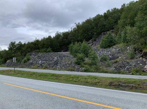SKAL BORT: I over ti år har denne gamle asfalthaugen vært lagret i Håkvik. Nå skal kommunen får den fjernet