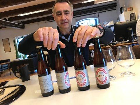 NYTT BRYGG: Dag Kjeldsberg hyller sin forgjenger Johan Rief med en pale ale.