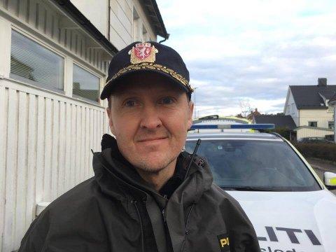 Innsatsleder Dag Gjølstad.